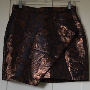 Copper and black skirt.